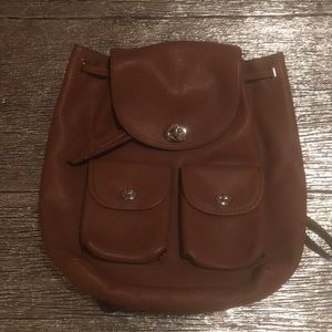 Big Coach leather backpack.
